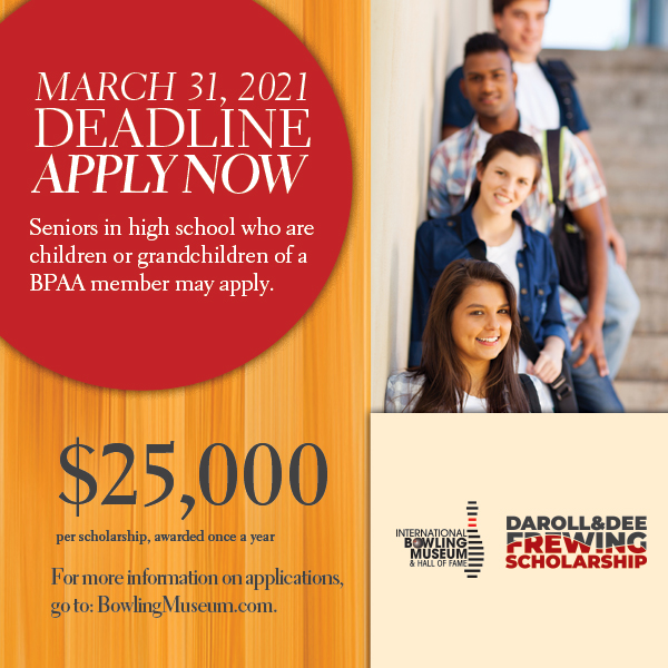 APPLICATIONS FOR THE DAROLL AND DOLORES FREWING COLLEGE SCHOLARSHIP NOW BEING ACCEPTED